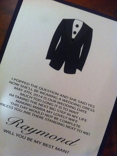 Will you be my best man card. Made by Place Of Events. www.placeofevents.com