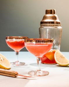 The Grapefruit Jasmine - Gin, Cointreau or Triple Sec, Campari, Lemon Juice, Grapefruit Juice.