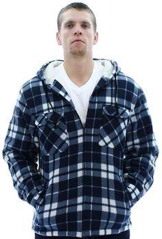 Moda Essentials Men's Plaid Zip Up Sh... $29.99 #bestseller