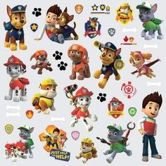 Decorate your preschoolers bedroom with their favorite heroic puppies using Roommates' Paw Patrol peel and stick wall decals. These wall decals are 100% re York Wallcoverings RMK2640SCS Paw Patrol Peel and Stick Wall Decals,