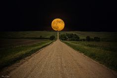 """Road to Nowhere - Supermoon"" by Aaron J. Groen"