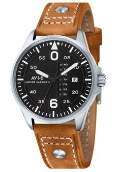 AVI-8 Hawker Harrier II Date Black Tan watch is now available on Watches.com. Free Worldwide Shipping & Easy Returns. Learn more.