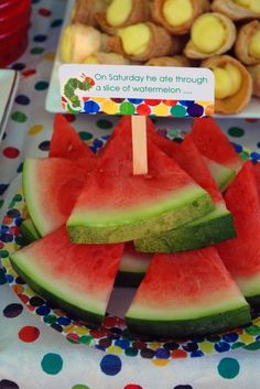 very-hungry-caterpillar-birthday-party food
