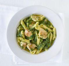 Hähnchen-Spinat-Pasta - [ESSEN UND TRINKEN]