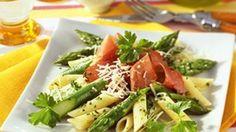 Pasta mit Spargel und luftgetrockneten Rinderschinken. Buon Appetito!