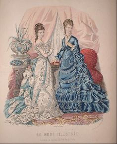 1870s Fashion, Europe Fashion, Edwardian Fashion, Fashion History, Vintage Fashion, Edwardian Gowns, Victorian Gown, Victorian Costume, Vintage Girls