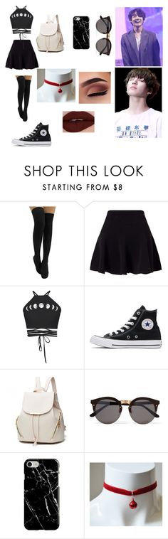 """""""Party with kookie (things get heated)"""" by ineedsomesugaformytae ❤ liked on Polyvore featuring Miss Selfridge, Converse, Illesteva and Recover"""