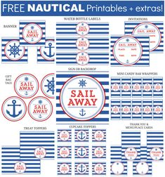 The free printable Nautical set includes invitations, gift tags, and a 5x4 inch sign which can be used as a greeting card. Additional items can be added below. If you'd like the item(s) personalized, please add your text in the box at checkout. For Personal Use Only. Do not modify, change, redistribute or sell.