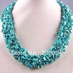 designer-necklace-Blue-Turquoise-Chip-Beads-Gemstone-Necklace-18-gift-fashion-jewelry.jpg (550×550)