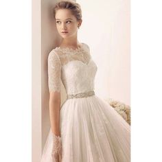 Two by Rosa Clara Wedding Dresses 2014 Bridal Collection - MODwedding ❤ liked on Polyvore featuring dresses and wedding dresses