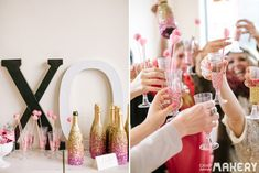 Ultimate Girls' Valentine's Party: Glitter Champagne DIY!   Camp Makery