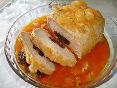 Receitas práticas de culinária: Lombo recheado com ameixas