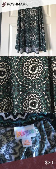 Lularoe azure skirt. Worn once, Lularoe azure. High low skirt. LuLaRoe Skirts A-Line or Full