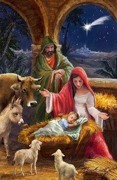 Merry Christmas Gif, Christmas Scenery, Christmas Jesus, Christmas Nativity Scene, Christmas Blessings, Christian Christmas, Christmas Pictures, Christmas Art, Christmas Greetings