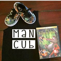 Disney Man Cub. jungle book. A personal favorite from my Etsy shop https://www.etsy.com/listing/449279586/man-cub-jungle-book-party-graphic-tank