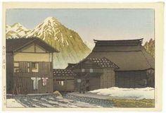 Echigo Yuzawa (Yuzawa, Echigo Province), 1941 By Kawase Hasui