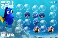 Actividades para Educación Infantil: Memoria de pez FINDING MEMO