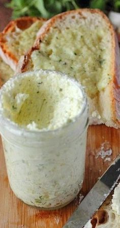 Homemade Garlic Spread Recipe made with garlic, fresh herbs, and Parmesan cheese. Spread this butter on your favorite bread and toast! Flavored Butter, Homemade Butter, Homemade Sauce, Butter Recipe, Kfc Gravy Recipe, Homemade Recipe, Sauce Recipes, Cooking Recipes, Cajun Recipes