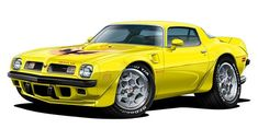 Fatcat Wall Graphics 1975 Firebird Trans Am Wall Decal Graphic Poster Cling Cartoon Car Art Choose Size & Colo Cartoon Car Drawing, Car Drawings, Car Decals, Vinyl Decals, Wall Decal, Kittens Cutest, Funny Kitties, Kitty Cats, Funny Dogs