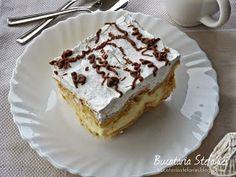 "Bucataria Stefaniei: Tort ""Ecler"" cu mascarpone si vanilie Mai, French Toast, Breakfast, Desserts, Mascarpone, Morning Coffee, Tailgate Desserts, Deserts, Postres"