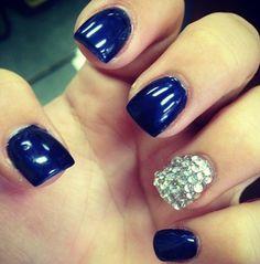 Dallas cowboys themed nails :)