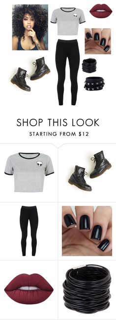 """""""Untitled #36"""" by gissellebeltre on Polyvore featuring WithChic, Dr. Martens, Peace of Cloth, Lime Crime, Saachi and Valentino"""