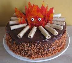 Howl's Moving Castle Calcifer cake!