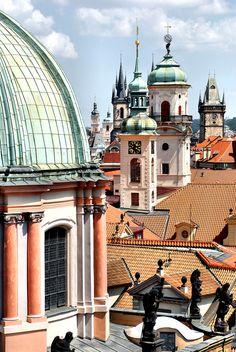 Iconic skyline architecture of Prague, Czech Republic | Europe Travel, Cityscape Photography