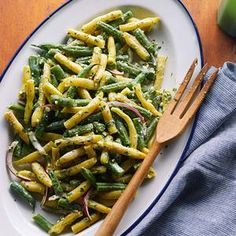 Green Bean Salad with Feta Dressing