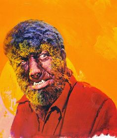"""Here's one of my favorite paintings from Basil Gogos. It's Lon Chaney, Jr. as the Wolf Man from """"House of Dracula"""". It was featured as th..."""