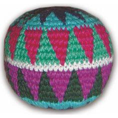 Crocheted Footbag  - Handmade Guatemalan crocheted foot-bag / Hacky Sack