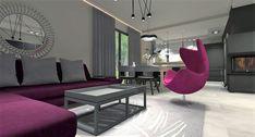 salon z aneksem kuchennym Egg Chair, Ali, Lounge, Furniture, Home Decor, Airport Lounge, Drawing Rooms, Decoration Home, Room Decor