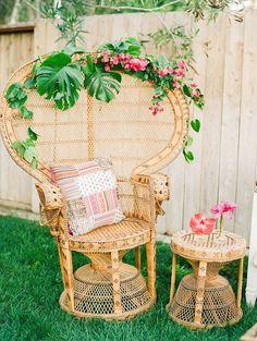 Fun decorating ideas for a bohemian/tropical wedding or a chic, summer party! Tropical Bohemian Wedding Ideas | Krista Jones Photography
