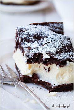 Chocolate puffs cake with custard (in Polish) Polish Recipes, Polish Food, Custard, Tiramisu, Cheesecake, Sweets, Chocolate, Baking, Ethnic Recipes