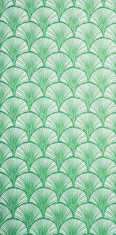wallpaper nippon emerald - mimou. Wallpaper that looks like fish scales in the colour of the Ariel's. this will be in every room in my house.