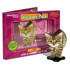 Bengal Cat Discover Pack includes 3d magnet, photos and more all in a pack you can mail like an oversized postcard!