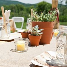 #wedding #upstateny #barn #barnwedding #ballmasonjar #palmleafplates #succulents
