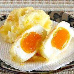 How to Make Egg Tempura (Food Wars! Egg Recipes, Asian Recipes, Great Recipes, Cooking Recipes, Favorite Recipes, Tempura, Tapas, Sauce Crémeuse, International Recipes