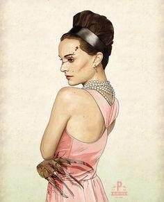 Slaughterhouse Starlets  Natalie Portman Print by thePisforPenis, $40.00