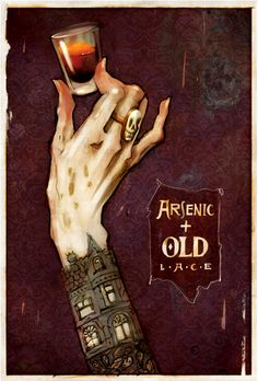 Theatre Poster for 'Arsenic and Old Lace'. Beautiful. Artist unknown.