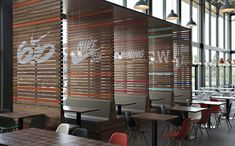 Re-designing Nike's corporate canteen must have been a challenging task. Nike EMEA chose Amsterdam-based studio UXUS to join their design team and compose Design Despace, Cafe Design, Booth Design, Store Design, Corporate Design, Retail Design, Nike Corporate, Office Interior Design, Office Interiors