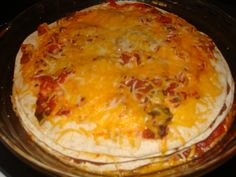 Mexican Pie  Casseroles, Main Dishes Comments Off  Mar 022010    This is a quick and easy meal, with very few ingredients and a quick preparation. This is a great recipes for vegetarians and by using soy or rice cheese can be made vegan. Mexican Pie Ingredients: olive oil 3/4 onion, diced 1 clove garlic, minced 1 (16 ounce) can refried beans 5 (8 or 10 inch) flour tortillas 1 cup salsa 2 cups shredded ...
