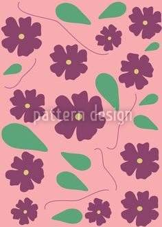 Viola On Pink designed by Ana Paula AM, vector download available on patterndesigns.com