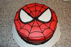 Spiderman Cake Photo: This Photo was uploaded by sandyctaylor. Find other Spiderman Cake pictures and photos or upload your own with Photobucket free im. - Visit to grab an amazing super hero shirt now on sale! Spiderman Torte, Spiderman Birthday Cake, Superhero Cake, 4th Birthday, Cake Birthday, Spiderman Face, Birthday Ideas, Spiderman Pasta, Spiderman Pictures