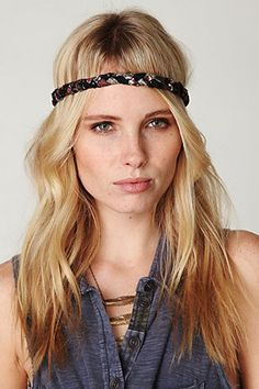 The hippie braided headband...yes, I wore these!
