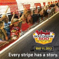 Every stripe has a story. We've earned a lot of stripes at Darlington Raceway over the years at the #BojanglesSo500.