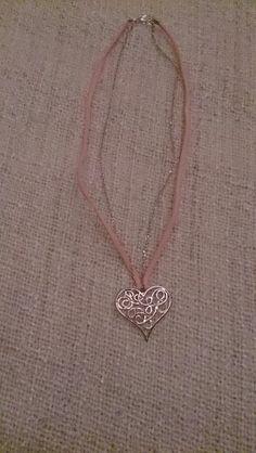 Collier Coeur filigrane