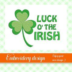 Luck o' the irish embroidery design st patricks day St Patricks Day, Embroidery Designs, Irish, Handmade Gifts, Etsy, Kid Craft Gifts, Irish Language, Craft Gifts, Ireland