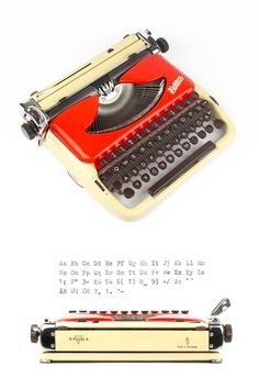 This portable typewriter is the Luxus-Edition of the famous Groma Kolibri and…