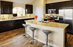 Modern #Kitchen Dark #Cabinets Decor and Design